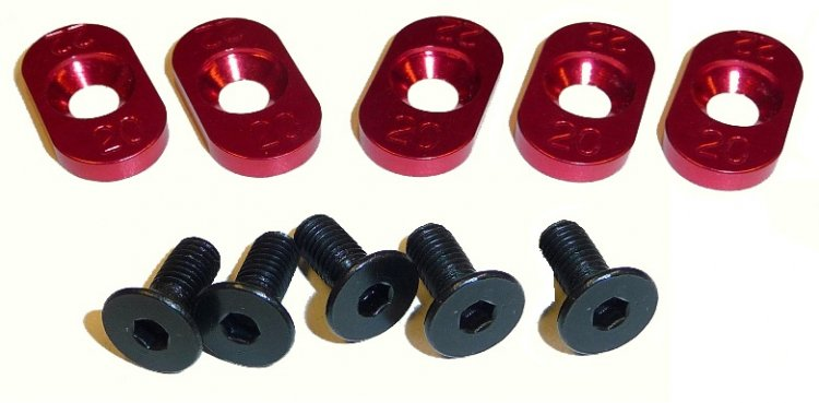 100120 - 20t/22t Inserts Losi 5ive (5) - Click Image to Close