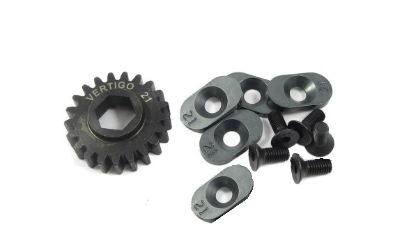 100921 Steel pinion gear w/5 - 21t inserts (Hex Drive Losi) 21T - Click Image to Close
